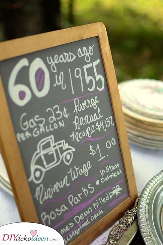 Vor 60 Jahren - Mit einer kleinen Tafel