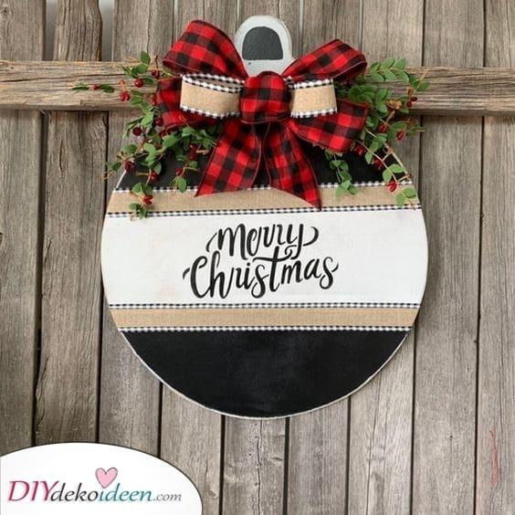 Eine entzückende Verzierung - Weihnachtskranz selber machen