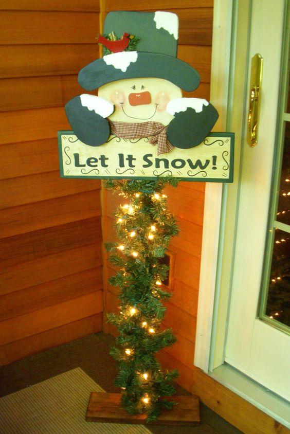 Lass es endlich schneien - Weihnachtsdeko Für Draußen