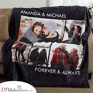 Eine riesige Decke - Geburtstagsgeschenk für Ehemann