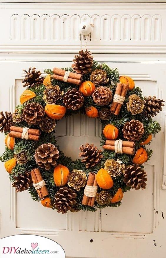 Orange und Zimt – Weihnachtskranz selber machen
