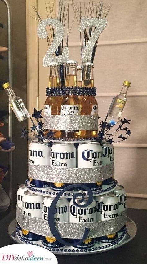 Ein Bierkuchen - Geburtstagsgeschenk für Ehemann