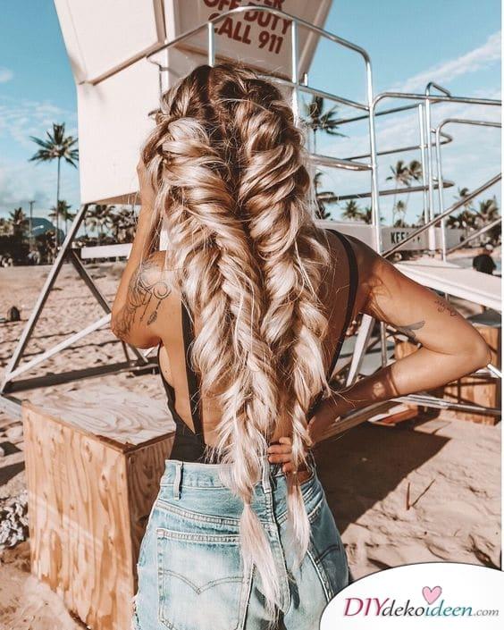 Große Zöpfe - Haare perfekt für den Sommer