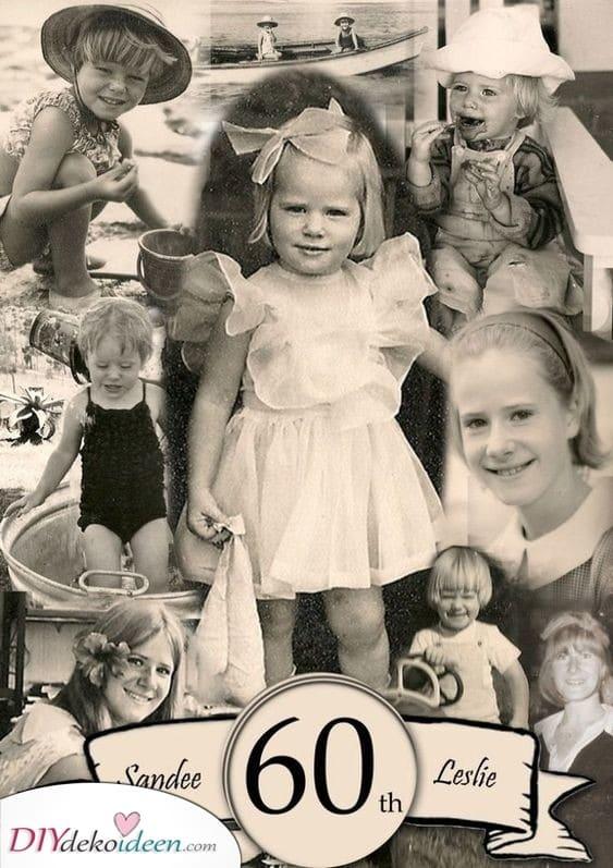 Eine Sammlung alter Fotos - Geschenkideen zum 60. Geburtstag