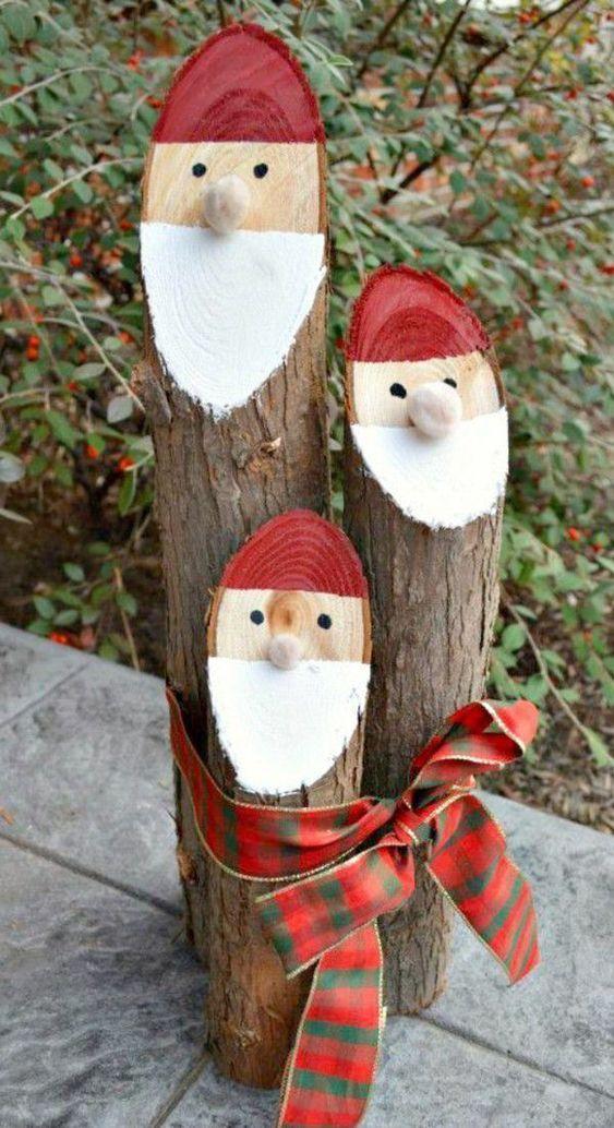Ein kleiner Weihnachtsmann - Außergewöhnliche Weihnachtsdeko selber machen