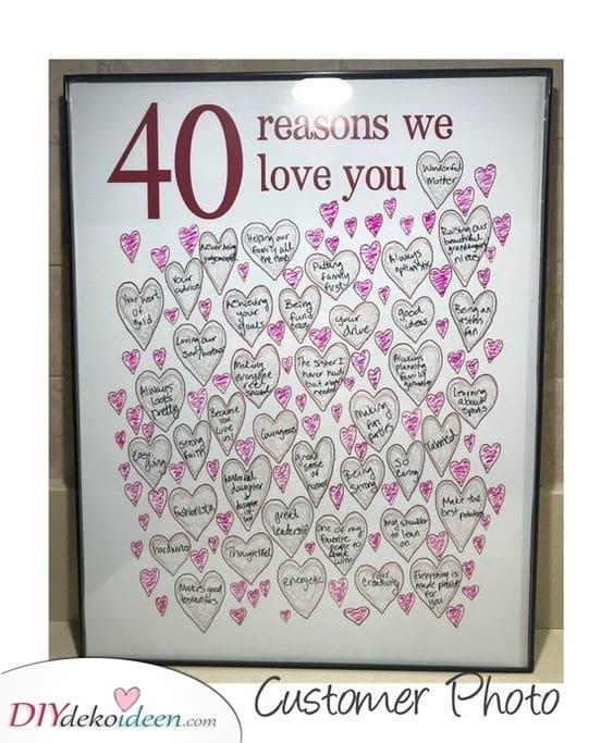 40 Gründe - warum jeder sie oder ihn liebt