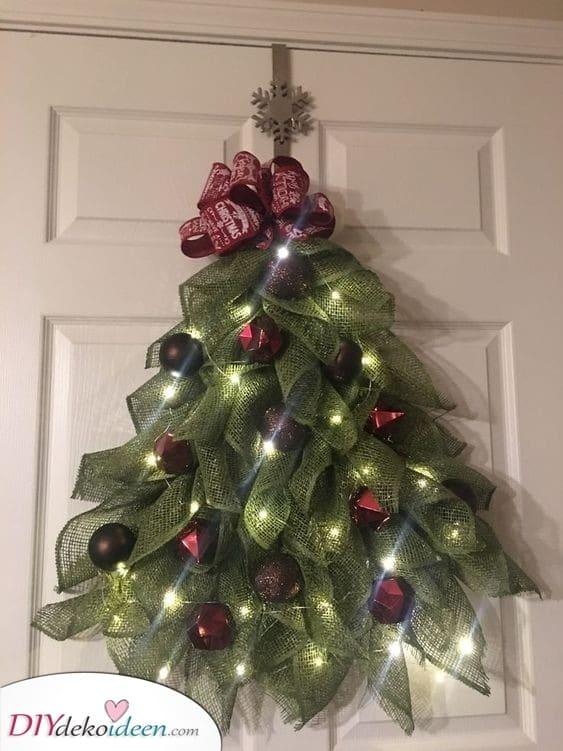 Ein Weihnachtsbaum - Schön und festlich den Weihnachtskranz selber machen