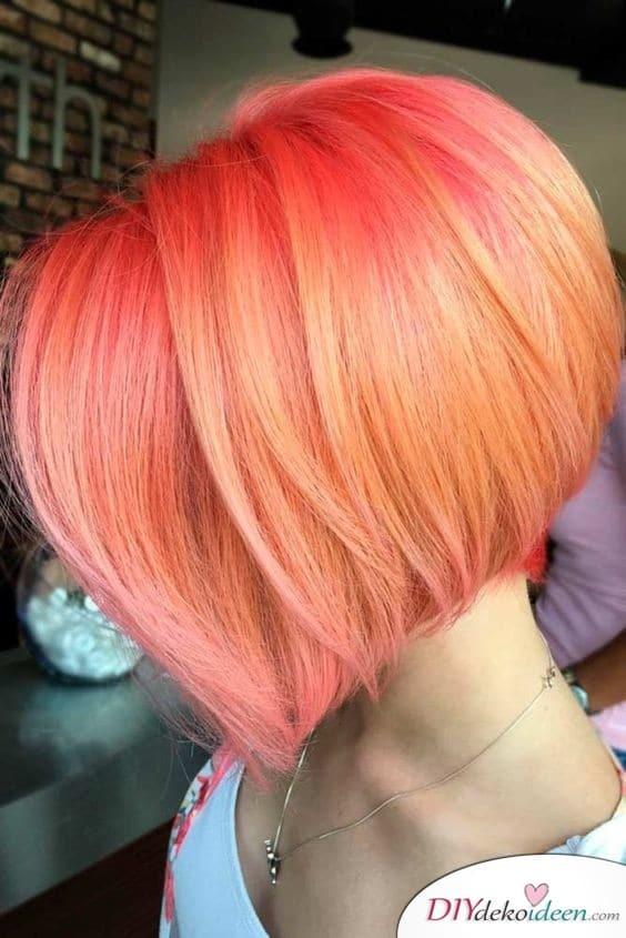 Popping Pink – Sommerfrisuren für kurze Haare