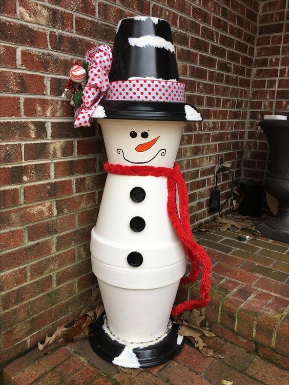 Ein Pflanzer Schneemann - Einzigartig und süß