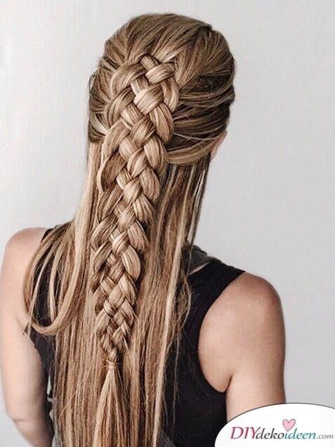 Ein elegantes Geflecht - Sommerfrisuren für lange Haare