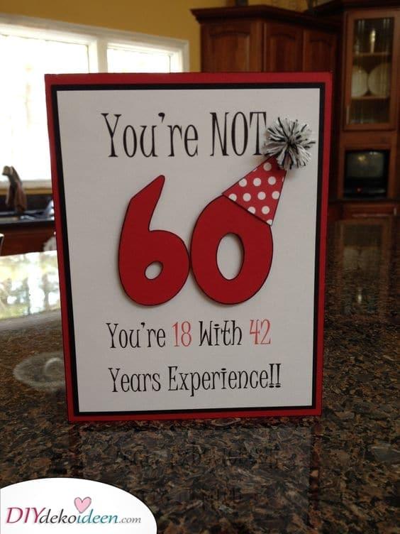 Eine kreative Karte - Geschenkideen zum 60 Geburtstag