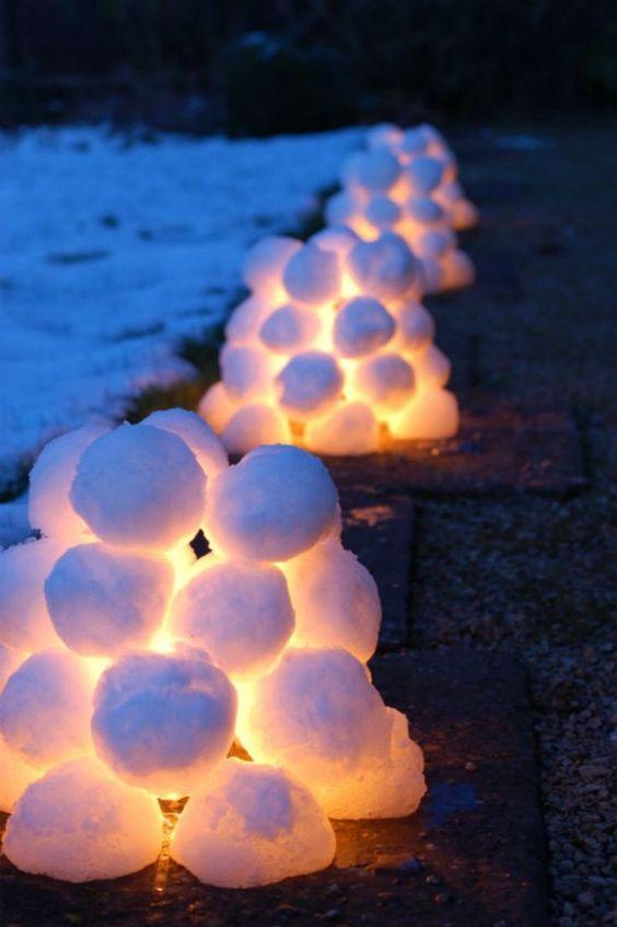 Schnee, der aufleuchtet – Außergewöhnliche Weihnachtsdekos zum selbermachen
