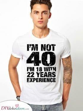 Ein tolles T-Shirt - Erfahrung sammeln