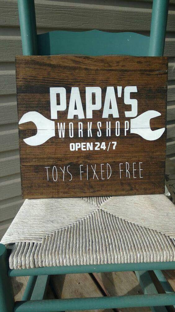 Opas Workshop – Sie werden sich so freuen!