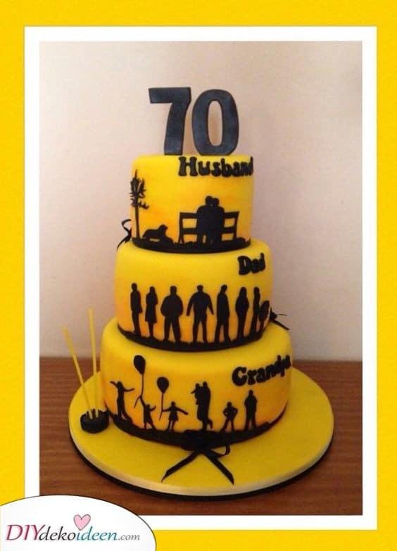 Ein malerischer Kuchen - Geschenke für Frauen zum 70. Geburtstag