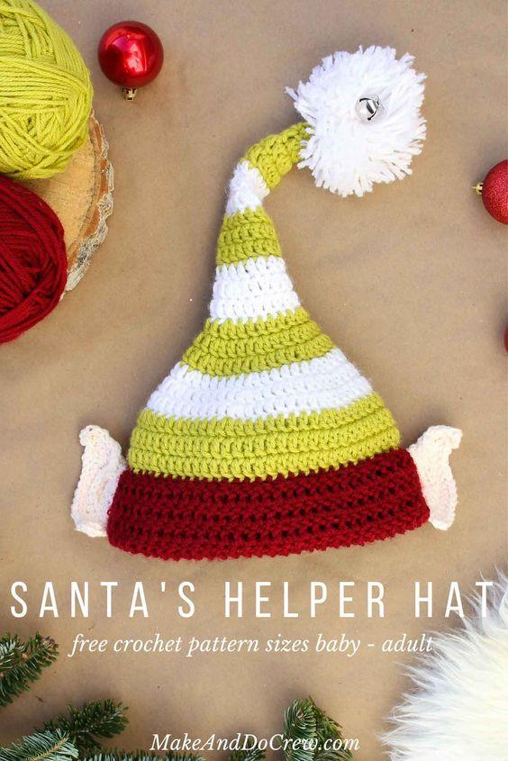 Santa´s Helper Hat - weihnachtsgeschenke für freunde selber machen