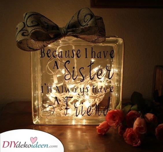 Lichterketten - Süße Geschenkideen für Schwester