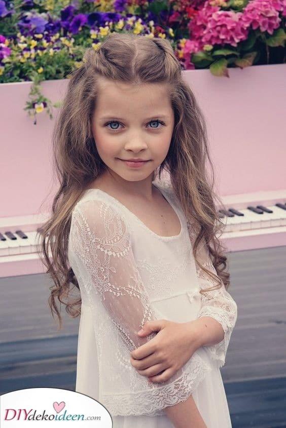 Ein natürlicher Look - Süße Frisuren für kleine Mädchen