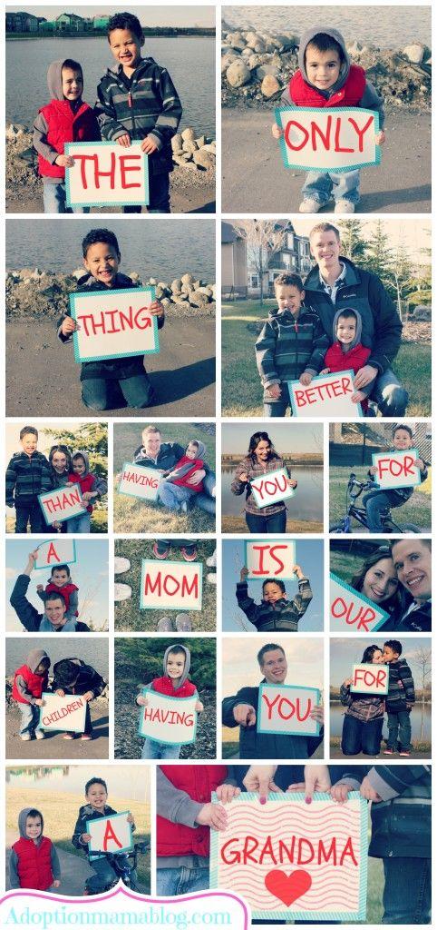 Eine herzliche Botschaft - Weihnachtsgeschenke für Oma und Opa