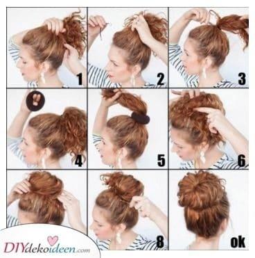 Ein Brötchen für dich - Locken Frisuren für Frauen