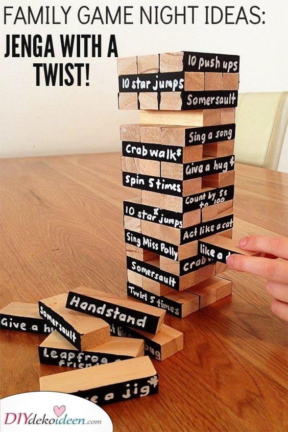 Jenga mit einem Twist - Freude mit Spiel