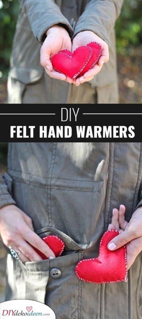 DIY Filz Handwärmer - Geschenkset für Frauen