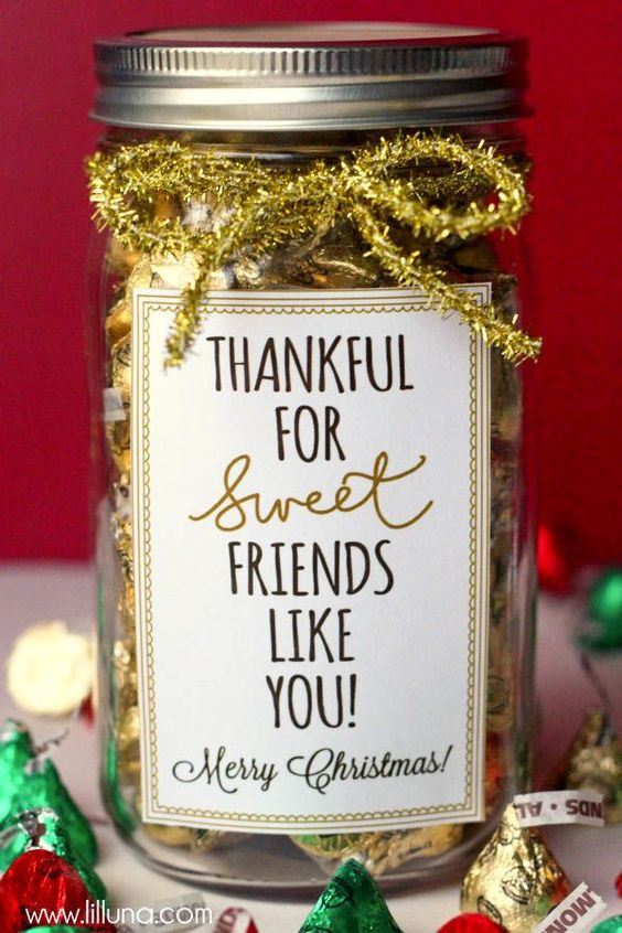 Sich dankbar fühlen - Weihnachtsgeschenke für Freunde
