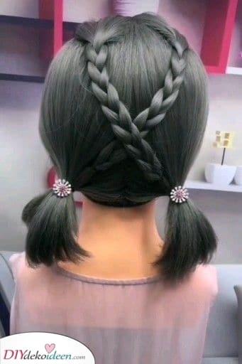 Zöpfe kreuzen sich - Süße Frisuren