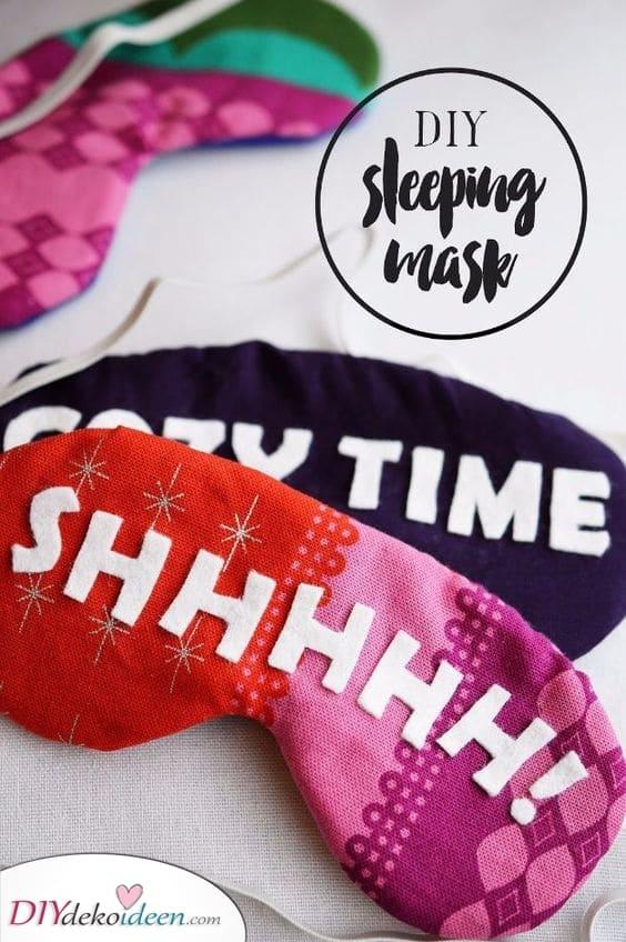 Schlafmasken - Lustige geschenke für Frauen selber machen