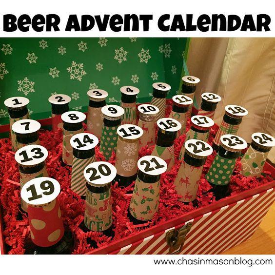 Ein Adventskalender mit Bier - Kreative