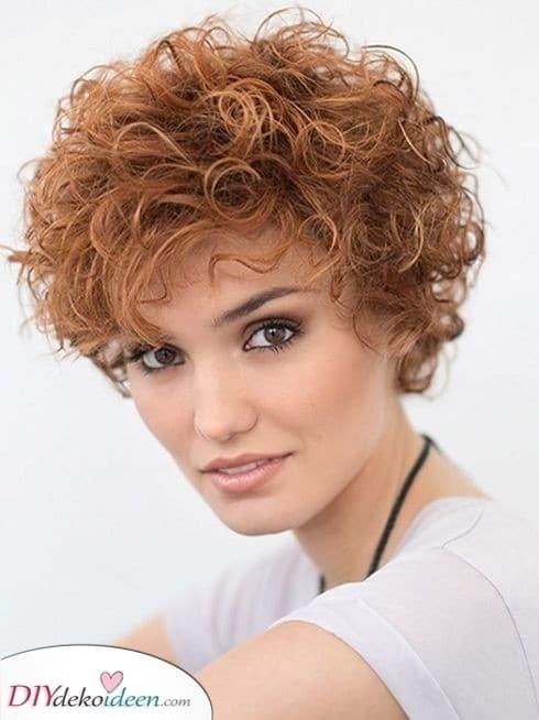 Kurzhaarfrisuren für lockiges Haar - Frisuren für kurzes lockiges Haar