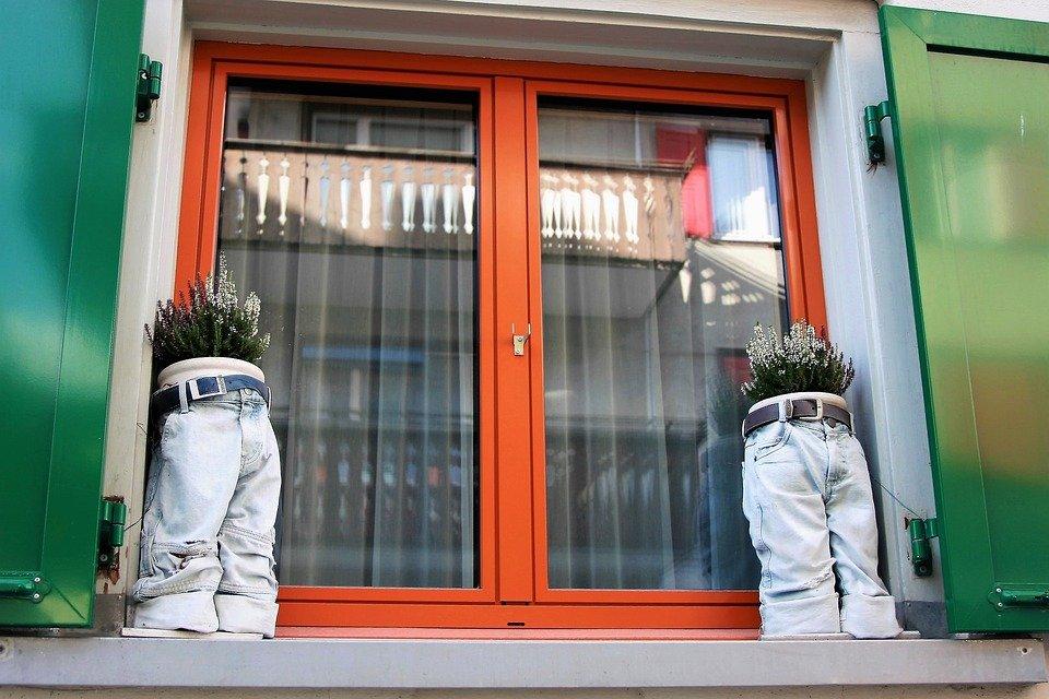Fenster, Architektur, Bunte, Haus, Gebäude, Topf