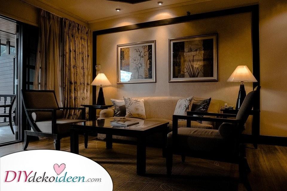 Zimmer, Innerhalb, Sofa, Lampenschirme, Rahmen, Vorhang