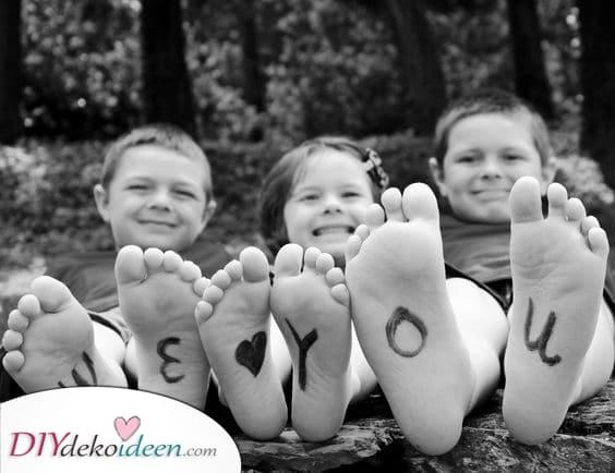 Ein Foto als Geschenk – Liebe von den Enkeln
