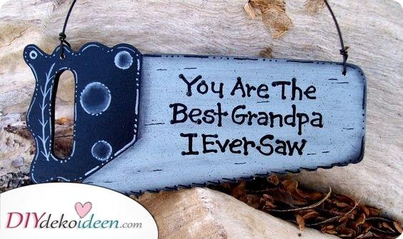 Wortspiel – Geburtstagsgeschenk für Opa selber basteln