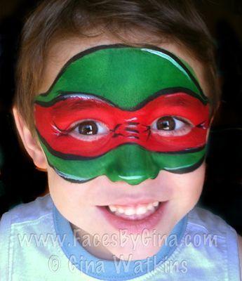 Teenage Mutant Ninja Turtle – Halloween schminke für KinderTeenage Mutant Ninja Turtle – Halloween schminke für Kinder