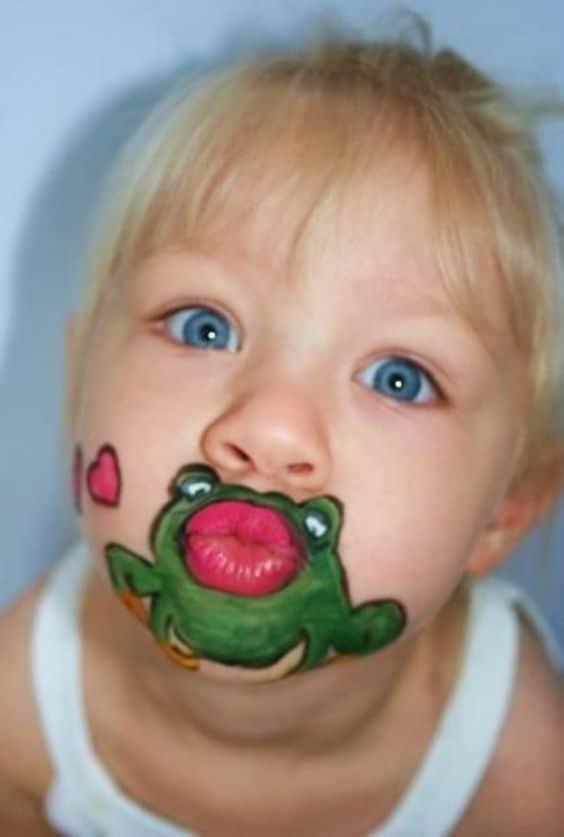 Einen Frosch küssen – Lustiges Schminken für Kinder