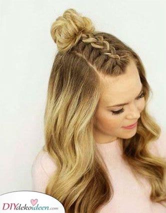 Zu einem Dutt geflochten – Fabelhafte Haar Ideen