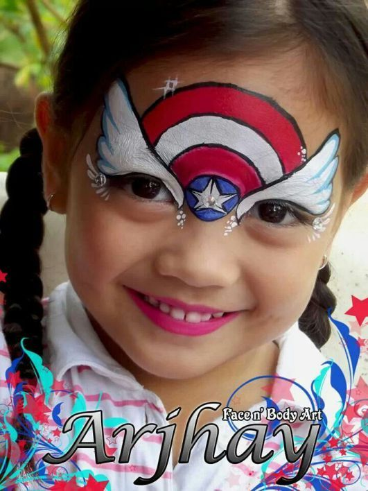 Captain America – Schminke für Kinder