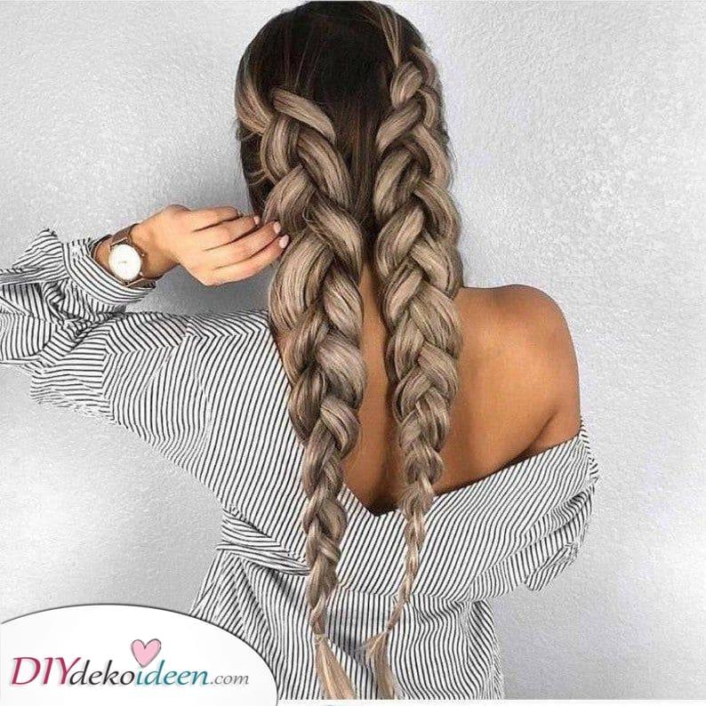 Große Zöpfe – Lange Frisuren für Frauen