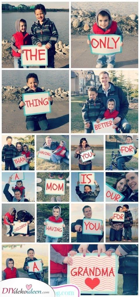 Eine liebevolle Botschaft – Fotogeschenkideen