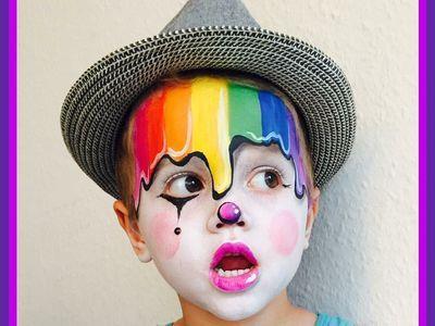 Ein einzigartiger Clown-Look – Schminken für Kinder