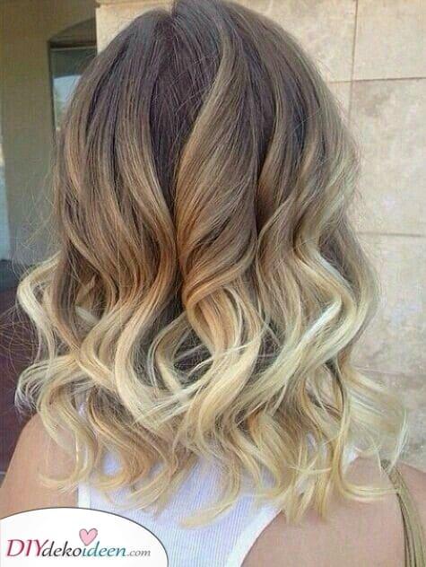 Ein tolles Ombre – Schulterlange Frisuren mit Farbe
