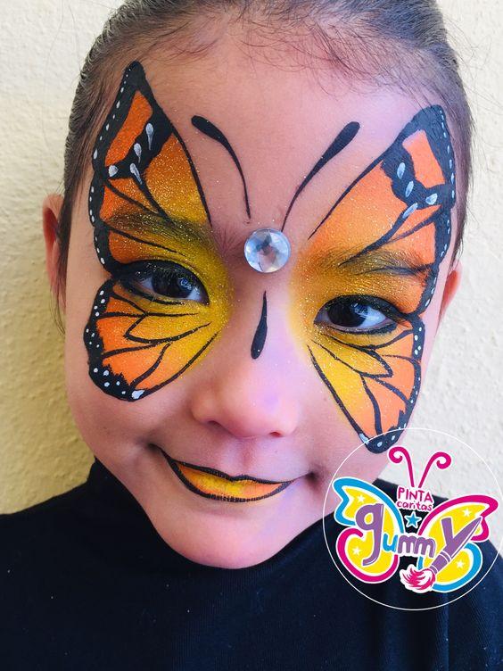 Ein majestätischer Schmetterling – Schminken für Partys