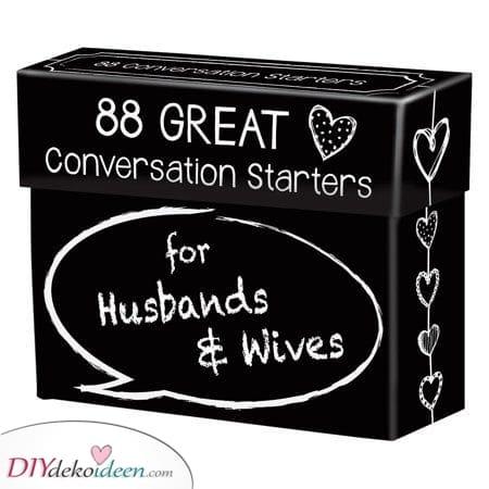 Lustige Gesprächsstarter – Geschenke für Ehepaare