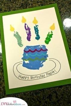 Geburtstagstortenkarte – Basteln für die Kinder