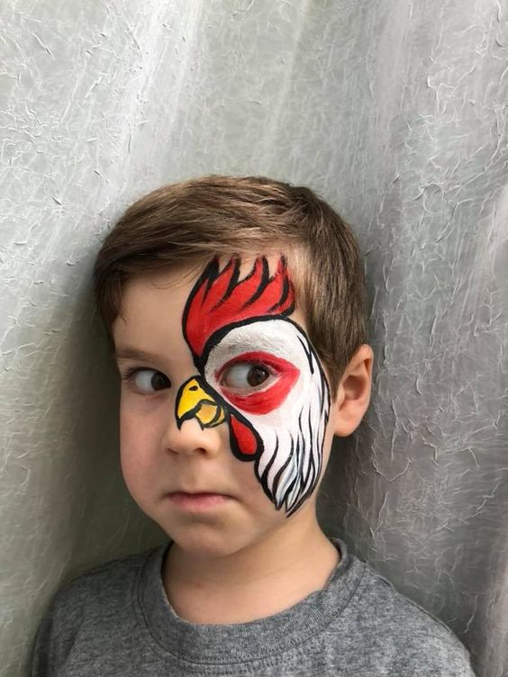 Der Hahn im Korb – Kinder schminken