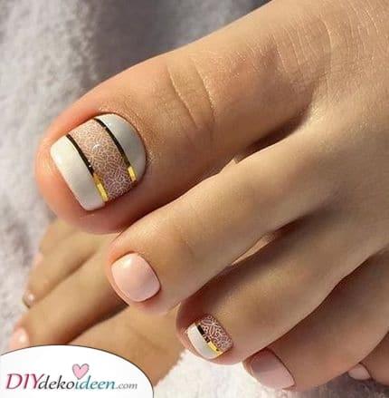 Eine schlichte Eleganz – Weiß, Pink und Gold
