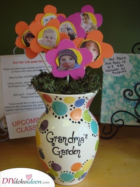 Eine Vase mit Enkelkindern – Geburtstagsgeschenke für die Oma