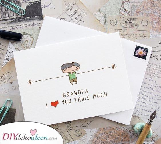 Ich Liebe ihn so sehr – Geburtstagsgeschenk für Opa selber basteln Wenn Sie nach einer